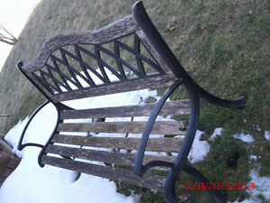 Bench - steel and wood