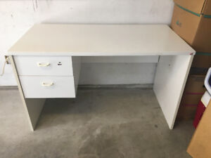 White Desk with 2 Drawers in great condition