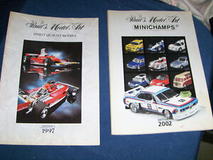 2 PAUL'S MODEL ART CATALOGS-MINICHAMPS-1997 & 2002-VINTAGE!