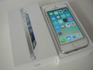 Apple iphone 5 16gb Silver unlocked Chatr Freedom Public Mobile