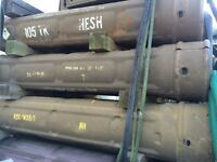 Military army tank round cases