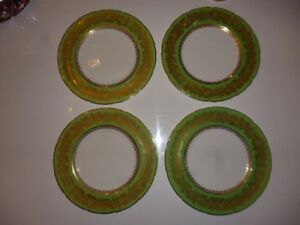 "Ensemble de 4 assiettes Coalport ""Golden Wedding"" England(067)"