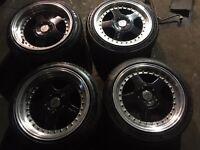 4x100 16' keskin kt1 alloy wheels staggered 9j bmw e30