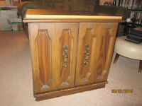 Large Wood End Table For Sale