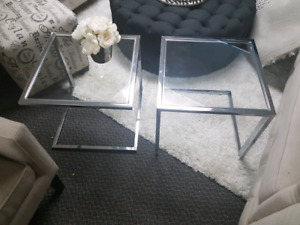 Set of two bouclair side tables