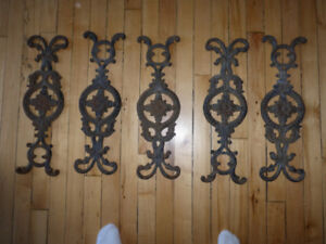 Set of 5 Decorative / Architectural? Cast Irons