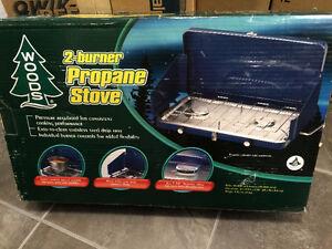 NEW  2 burner camp stove