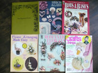 Pattern books for flower arranging and crafts