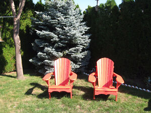 Two muskoka chairs in veary good condition - $160.00 for pair .
