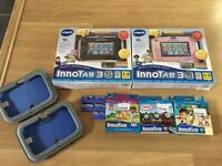Vtech innotab 3s wifi kids tablet pink and blue with games and accessories