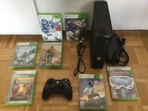 X Box 360 + jeux Call of Duty, F1, Ass Creed...100$