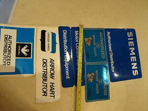 Vintage 80's Electrical Supplier Crack & Peel Stickers -Siemans Kitchener / Waterloo Kitchener Area image 5