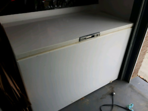 Chest freezer and black fridge