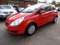 Vauxhall Corsa 1.2I 16V LIFE (12 MONTH MOT + LOW RATE FINANCE AVAILABLE) (red) 2008