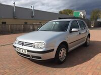 VW Golf 1.4 Petrol, 2003, Full Years Mot