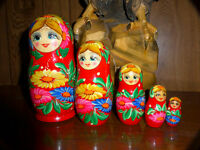 New 5 Russian Nesting Dolls, Russian wooden Eagle 600$ off