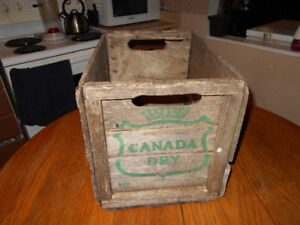 Vintage 1960's Canada Dry Wood Crate