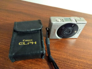 Canon Elph Film Camera with 24-48 mm Zoom Lens and Leather Case