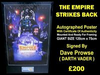 Autographed THE EMPIRE STRIKES BACK Poster