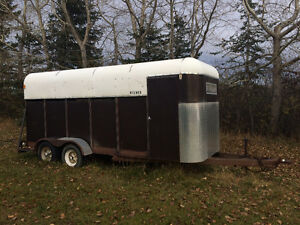 All steel frame 4 horse stock trailer
