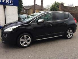 PEUGEOT 3008 1.6 HDi DIESEL EXCLUSIVE ** 2010 59 ** FULL BLACK LEATHER **