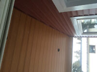 Eavetrough siding soffit fascia capping repair