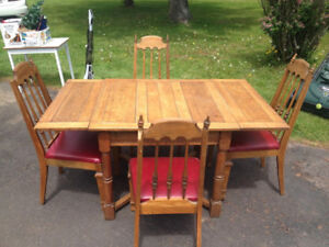 Antique Dining table and chair set