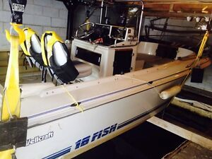 1989 Wellcraft 18' Fisherman boat & 150 hp