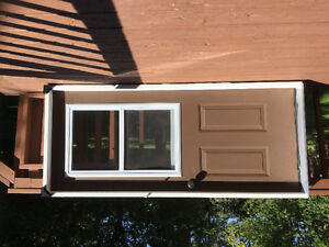 Outside door with brand new frame