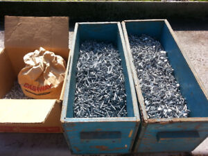 ASSORTED GALVANIZED ROOFING NAILS - POUNDS & POUNDS