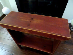 antique PINE BUCKET BENCH distressed russet SHABBY farm COUNTRY Cambridge Kitchener Area image 6