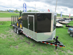 7X22 Custom Hybrid Equipment/Enclosed Trailer, Tandem Axle, 14K