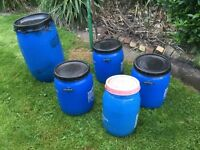 5 Feed or storage barrels or water butts
