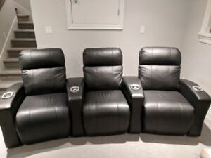 Leather Reclining Theater Seats