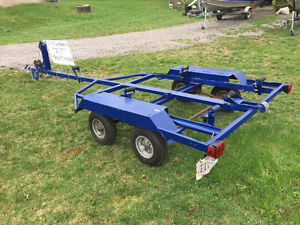 Dually trailer for a 15' boat,with bunks or rollers, have both