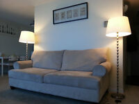 Beige suede sofa no stains no rips like new, only for $299