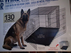 Dog Crates GIANT NEW 2 DR/Folds/Pan/Divider $150 TOTAL