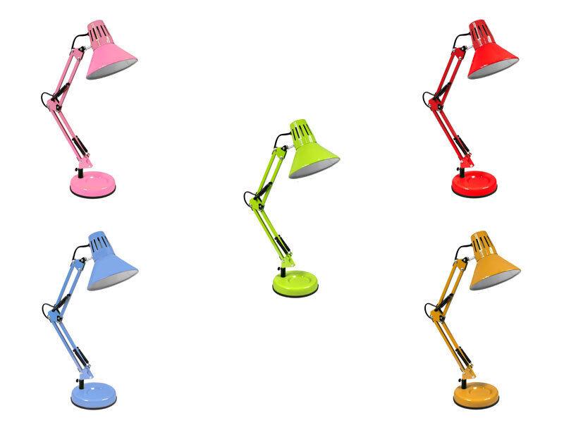 Lampada da scrivania braccio snodabile luce da tavolo base e morsetto incluso