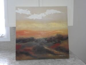 canvas picture of  an abstract sunset