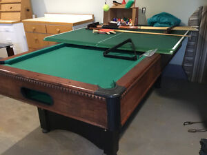 Pool Table/Ping Pong Table - (in.): 32H x 48W x 88 Length