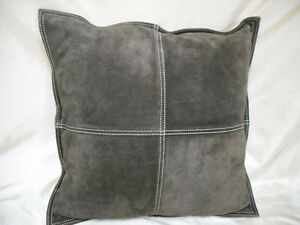 Chocolate Brown Suede Pillow SALE $5.00