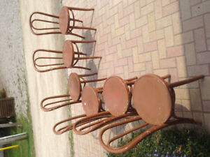 Wooden rustic chairs 6 pcs.