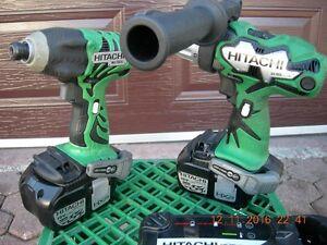 HITACHI COMBO HD-Cordless-18V- Drill, Impact, Charger, Light