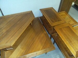 WALNUT COFFEE TABLE & END TABLE SET BY LANE Peterborough Peterborough Area image 4