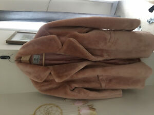 Faux fur coat. Never used, pink!