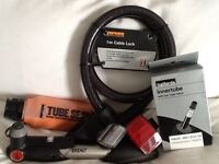 Bike cable lock, pump and accessories