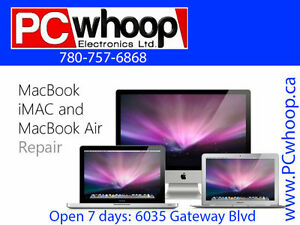 Macbook, Imac & Macbook Air Repair and upgrades by PCwhoop Edm