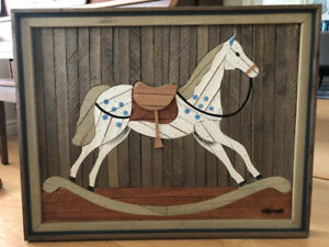 Wall artwork.   Theodore deGroote solid wood folk art.
