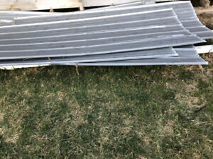 Galvalume sheets used metal roofing approx. 7' length tin