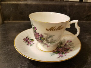BLUEBIRD FLORAL BOUQUET BONE CHINE CUP & SAUCER FOR YOUR MOTHER